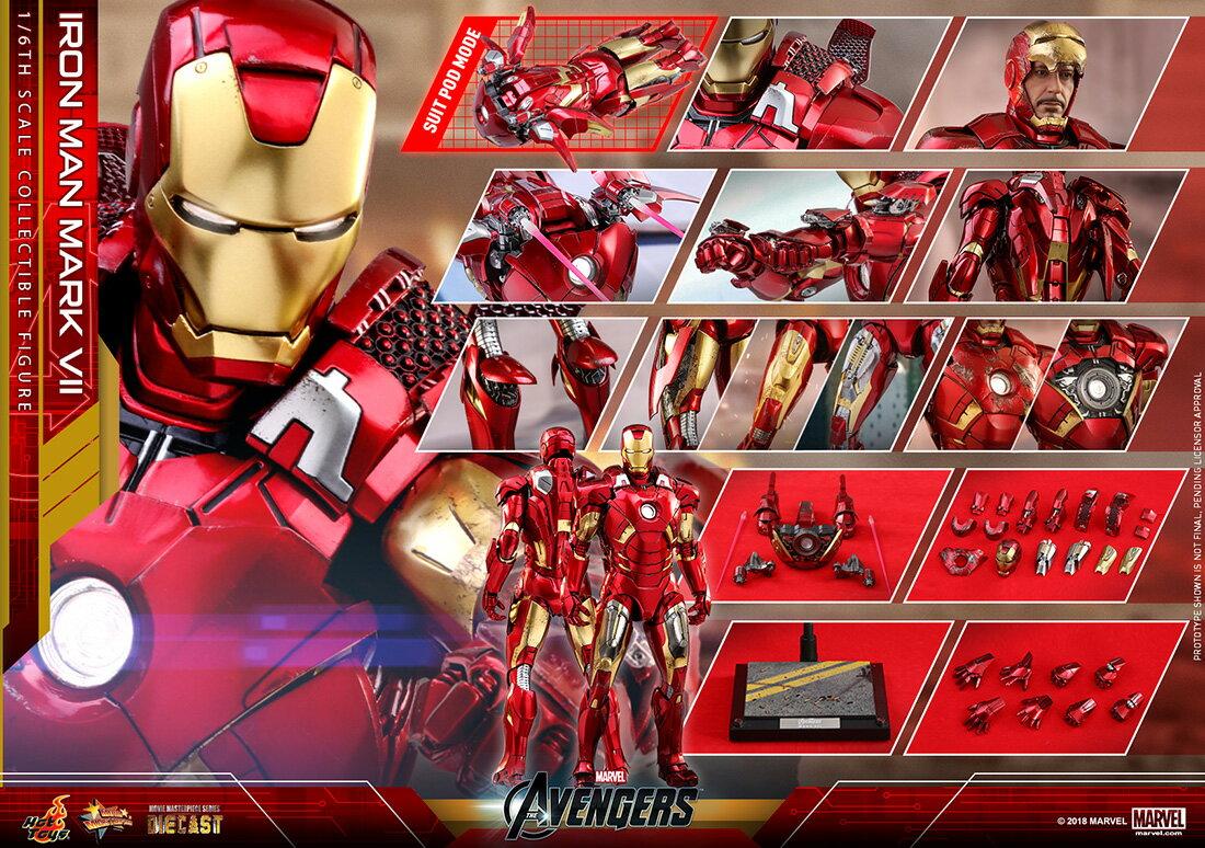 コレクション, フィギュア Hottoys MMS500D27 7 16 The Avengers - Mark 7