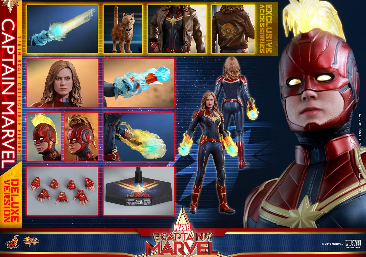 コレクション, フィギュア Hottoys MMS522 16 Captain Marvel With Bonus Accessories