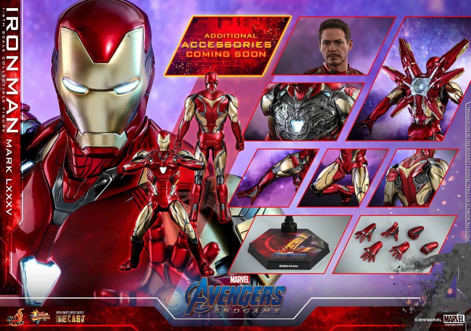コレクション, フィギュア Hottoys MMS528D30 85 16 Avengers: Endgame - Iron Man Mark 85