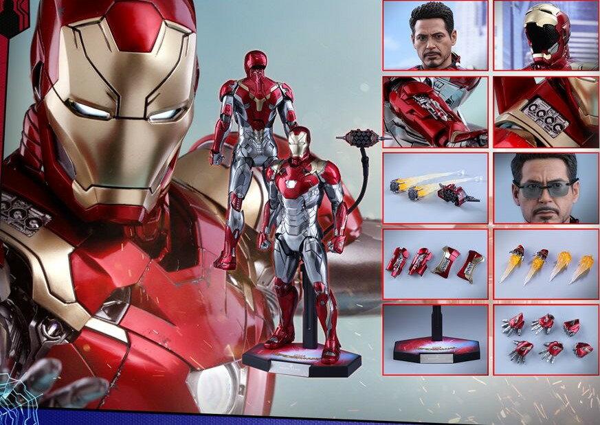 コレクション, フィギュア Hottoys MMS427D19 - 47 16 Spider-Man Homecoming - Mark 47 Reproduction