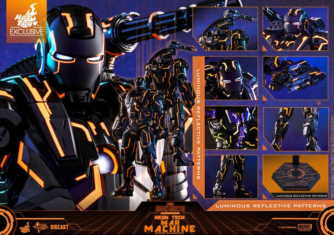コレクション, フィギュア Hottoys MMS553D35 2 16 Iron Man 2 - War Machine (Neon Tech Orange Version)