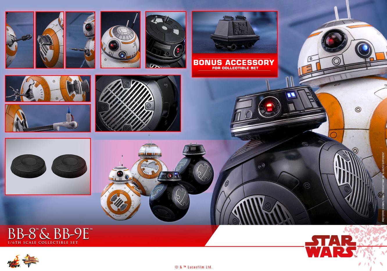 コレクション, フィギュア Hottoys MMS 442BB-8BB-9E216 Star Wars The Last Jedi - BB-8 BB-9E With Bonus Accessory