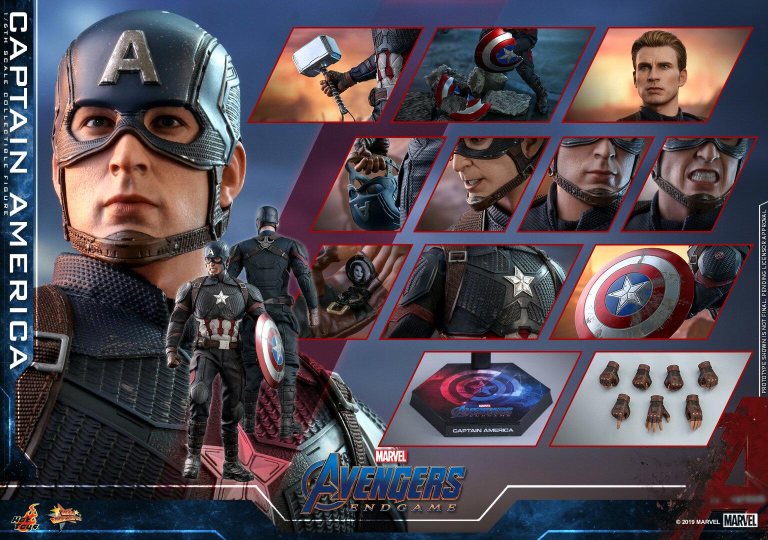 コレクション, フィギュア Hottoys MMS536 16 Avengers: Endgame - Captain America