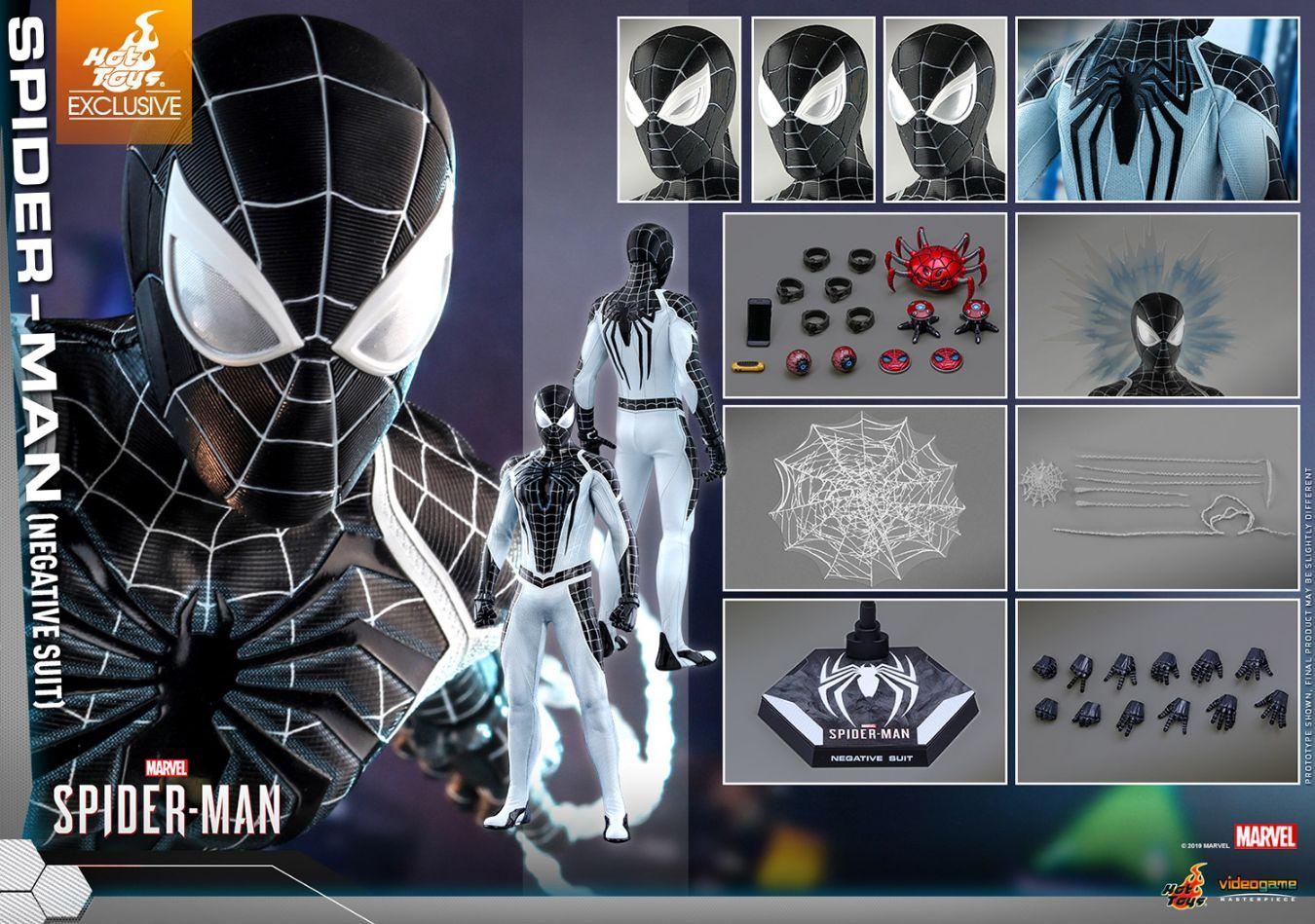 コレクション, フィギュア Hottoys VGM36 Marvels SpiderMan 16 Spider-Man (Negative Suit Version)