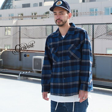 GOWEST go west ゴーウエスト トップス シャツ OUT OF BORDER SHIRTS / Fleece Lined Heavy Twill Check