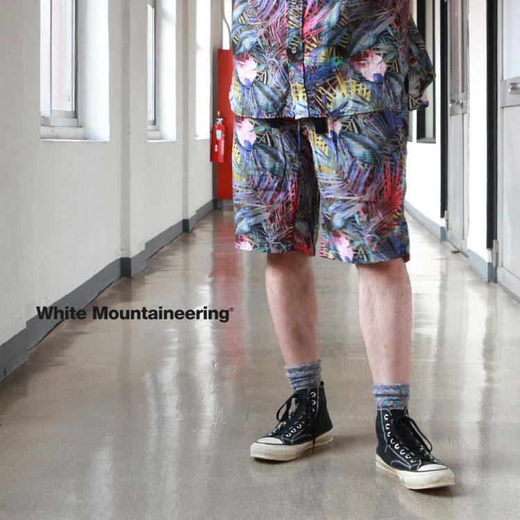 メンズファッション, ズボン・パンツ White Mountaineering BOTANICAL PRINTED EASY SHORT PANTS