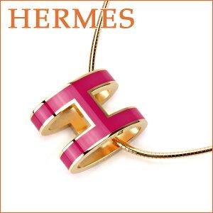 エルメス ネックレス HERMES H147001 アクセサリー ポップアッシュ POP H レディース ROSE INDIEN(ローズアンディアン) ピンク ロゴ モチーフ シンプル エレガント【送料無料】