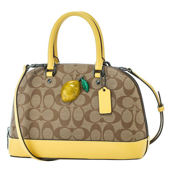 レディースバッグ, ハンドバッグ 2000OFF121()1400 COACH OUTLET F72753 QBORT SIGNATURE KHAKI()SUNFLOWER()