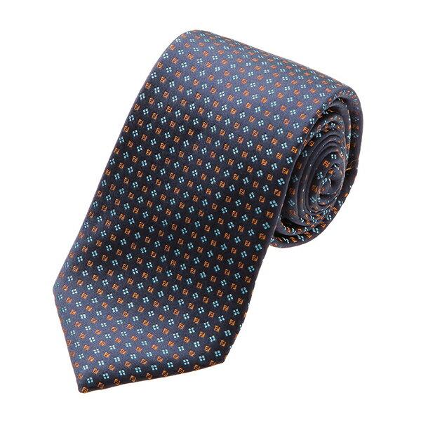 スーツ用ファッション小物, ネクタイ 2000OFF1118()1400 FENDI A0C9 8Y6 TIE DARK BLUEORANGE