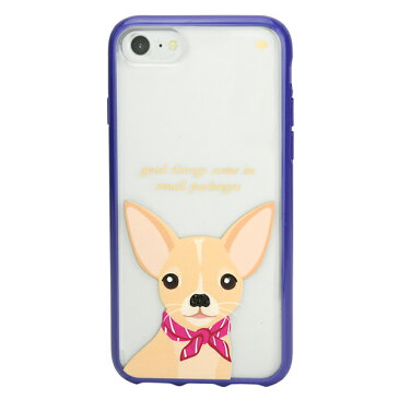 ケイトスペード iPhone7/iPhone8 スマートフォンケース kate spade 8ARU1957 915 ブランド小物 アイフォンケース IPHONE CASES JEWELED CHIHUAHUA ジュエル チワワ レディース CLEAR MULTI クリア マルチ クリスマス 犬 スマホケース アイフォン7/8 キュート フェミニン アイ