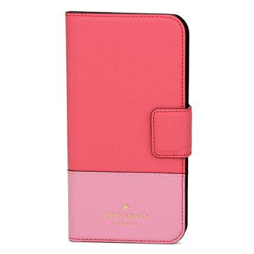 ケイトスペード iPhone X スマートフォンケース kate spade 8ARU2236 653 ブランド小物 アイフォンケース IPHONE CASES LEATHER WRAP FOLIO レディース BRIGHT FLAMINGO MULTI(ブライトフラミンゴマルチ) ピンク クリスマス 手帳型 スマホケース アイフォンX シンプル アイフ