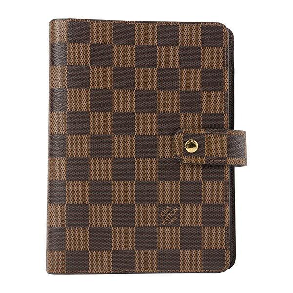 手帳・ノート, システム手帳  Louis Vuitton R20240 DAMIER EBENE MM BROWN()