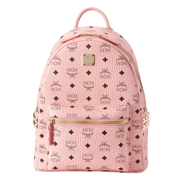 M CM rucksack MCM MMK7AVE37 PZ001 bag biSeto's VISETOS STARK SIDE STUDS BACKPACK SMALL Lady's SOFT PINK software pink