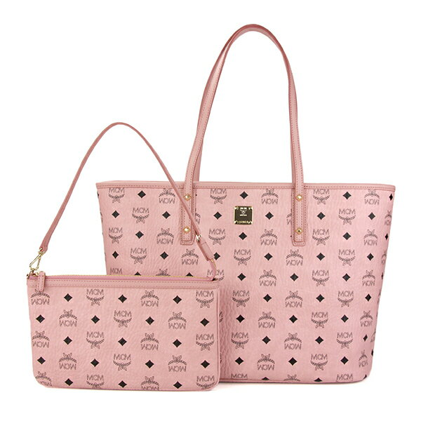 レディースバッグ, トートバッグ 10OFFSALE MCM MWP7SVI33 PZ001 VISETOS ANYA TOP ZIP SHOPPER SOFT PINK 69800
