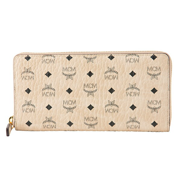 財布・ケース, レディース財布 10OFFSALE () MCM MXL 8SVI92 IG001 VISETOS ORIGINAL ZIP AROUND WALLET BEIGE 34800