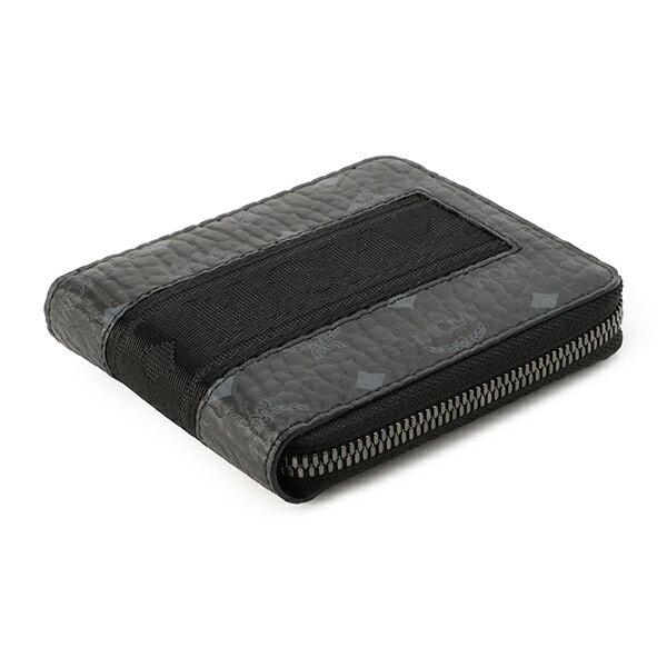 MCM(エムシーエム)『ウェビングヴィセトスジップアラウンド二つ折り財布(MXS9SVI90BK001)』