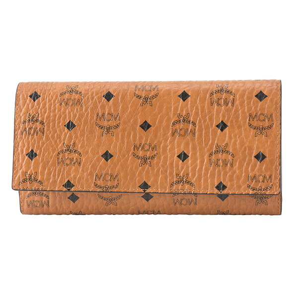 財布・ケース, レディース財布  MCM MYL 8SVI48 CO001 VISETOS ORIGINAL THREE FOLD WALLET COGNAC()