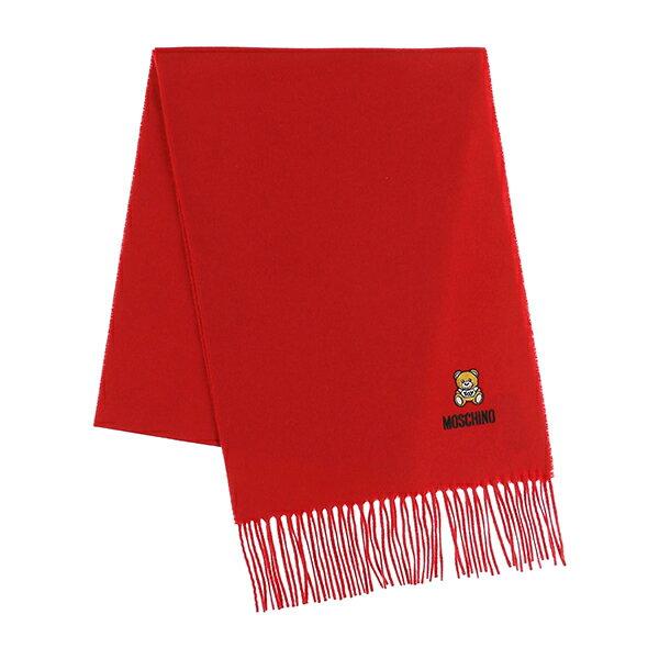 マフラー・スカーフ, レディースマフラー・ストール  MOSCHINO 50124 M5293 007 WOOL SCARF RED()