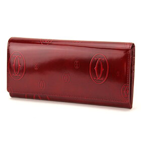 CartierカルティエL3001281ハッピーバースデーボルドー長財布12クレジットカードマチ付インターナショナルウォレットレディース%OFF即納・代引/送料無料