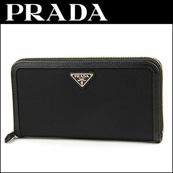 プラダ 折財布 型押し レザー 1ML225 QHH F0002/SAF TRI NERO