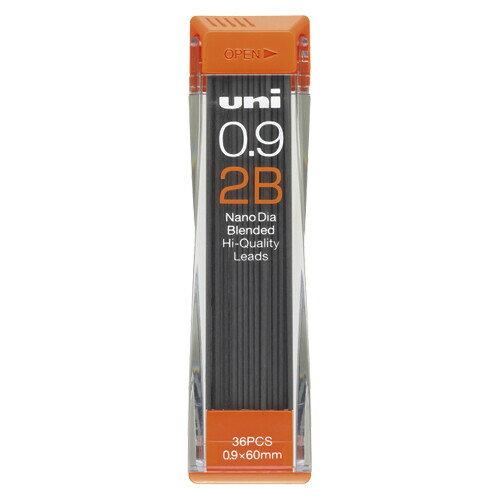 三菱鉛筆 ユニ ナノダイヤ シャープ替芯 0.9mm【2B】 U09202ND-2B - 送料無料※600円以上 メール便発送