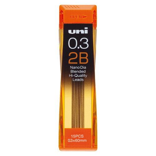 三菱鉛筆 ユニ ナノダイヤ シャープ替芯 0.3mm【2B】 U03202ND-2B - 送料無料※600円以上 メール便発送