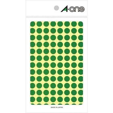 エーワン カラーラベル 9mm 丸 緑 0 7003 - 送料無料※600円以上 メール便発送