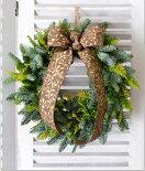 モミの木クリスマスリース手作りキット■生花もみの木クリスマスリース■キット(材料・花材・マニュアル)■もみクリスマスリース■クリスマス本物のもみ■オレゴン産もみの木■選べるリボン