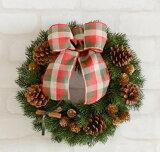 クリスマスリース30センチ 造花もみの木 完成品■造花・光触媒加工 クリスマスリース■選べるリボン■造花モミの木とナチュラル素材■クリスマスリース 壁飾り 壁掛け■クリスマスリース 玄関■リース 玄関■もみの木 リース