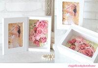 【写真たてリングピロー完成品送料無料】リングピロー・写真たて・フォトフレーム・花電報・結婚のお祝い、贈り物やプレゼントに