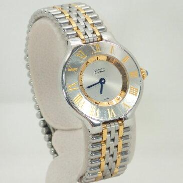 カルティエ【CARTIER】マスト21マストヴァンティアンSS/GPレディースクォーツ腕時計【中古】