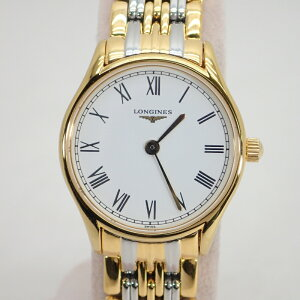 Longines [LONGINES] SS / GP Белый циферблат Grand Classic Reel Женские кварцевые наручные часы * L4.258.2 [Использовано]