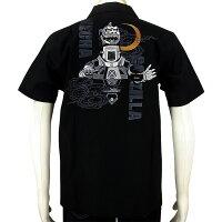 ゴジラGODZILLAメカゴジラ刺繍半袖開襟シャツGZSS-001SからXXL円谷プロオープンカラー