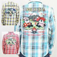 パンディエスタPANDIESTAJAPANヘビーチェックネルシャツ561600キャンピングPDJアメカジアウトドアパンダ