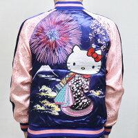 ハローキティ刺繍スカジャンHKSJ-003花火花魁サンリオ和柄