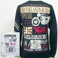 Nortonノートンメロン刺繍ベーシック長袖TシャツロンT63N1100アメカジバイカーロッカーズ
