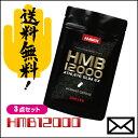 【ポイント2倍】お得な3袋セット HMB12000 アスリートスリムEX 120粒