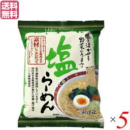 【ポイント5倍】最大31.5倍!インスタントラーメン ラーメン 袋麺 創健社 塩らーめん 102g 5個セット 送料無料