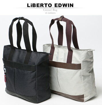 LiBERTO EDWIN (リベルトエドウィン) ナイロン ロゴ型押し トートバッグメンズ カジュアル 男性 メンズファッション ギフト プレゼント ラッピング