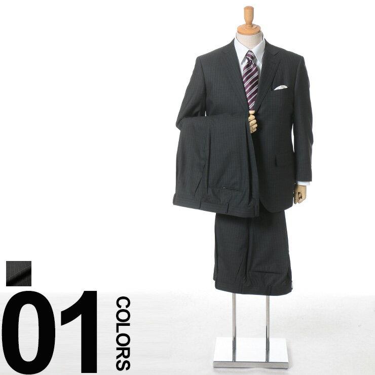大きいサイズ メンズ SAKAZEN (サカゼン) ウール100% マルラーネ生地 ストライプ シングル 2ツ釦 ワンタック ツーパンツ スーツ [KB体] サカゼン ビジネス シングルスーツ 2パンツ ウール(メンズスーツ 大きい ビジネススーツ オフィス ビジネスウェア ビッグサイズ):大きいサイズのサカゼン