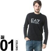 EMPORIO ARMANI EA7 (エンポリオ アルマーニ イーエーセブン) ロゴプリント クルーネック 長袖 ロング Tシャツブランド メンズ 男性 カジュアル トップス ティーシャツ シンプル 【EA3YPTB5PJ03Z】