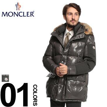MONCLER (モンクレール) 部分切り替え ファーフード フルジップ ダウンブルゾン FREYブランド メンズ 男性 カジュアル ファッション アウター ダウン ショート 防寒 コヨーテファー MCFREY8