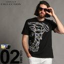 VERSACE COLLECTION (ヴェルサーチ コレクション) 綿100% メデューサプリント 半袖 Tシャツブランド メンズ 男性 カジュアル ファッション トップス シャツ コットン クルーネック 半袖 VCV800683RVJ572
