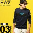 アルマーニ Tシャツ EMPORIO ARMANI EA7 (エンポリオ アルマーニ イーエーセブン) 綿100% フロントマーク クルーネック 長袖 Tシャツブランド メンズ 男性 カジュアル ファッション トップス シャツ ロンT スポーツ コットン EA3GPT11PJT7Z