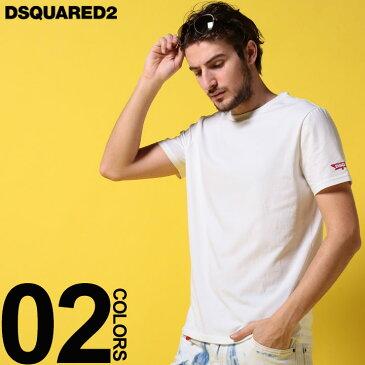 DSQUARED2 (ディースクエアード) 袖ロゴ ラウンドネック 半袖 アンダーTシャツブランド メンズ 男性 カジュアル ファッション トップス シャツ 肌着 インナー アンダーウェア D2D9M202270