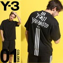 Y-3 (ワイスリー) スリーライン YOHJI YAMAMOTO クルーネック 半袖 Tシャツ BLACKブランド メンズ 男性 カジュアル ファッション トップス シャツ アディダス グラフィック プリント Y3DY7217