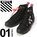 OFF-WHITE (オフホワイト) キャンバス ビビットタブ ミッドカットスニーカー MID TOPブランド メンズ 男性 カジュアル ファッション 靴 シューズ ストリート 蛍光 ロゴ OWIA119S19C2103