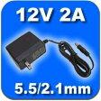 12V2A 汎用 ACアダプター プラグ外径5.5mm(内径2.1mm)