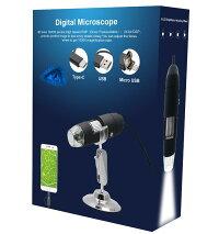 500倍デジタルマイクロスコープUSB顕微鏡これがあればいろいろ拡大して見ることができます【皮膚頭皮診断生物観察宝石鑑定繊維検査偽造判断実験】