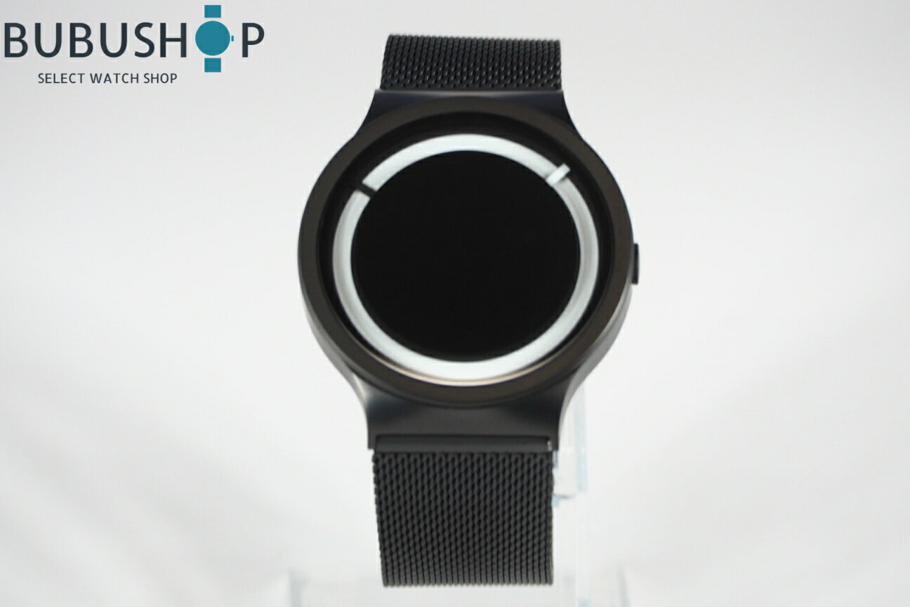 ZIIIRO ジーロ 腕時計 エクリプス メタリック ブラック×スノー Z0012WBW ECLIPSE プレゼント 個性的 デザイン 贈り物 個性的 デザインウォッチ